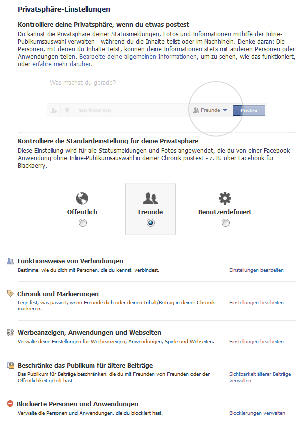 facebook kontoeinstellungen privatsphäre