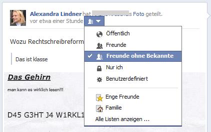 facebook privatsphäre beitrag