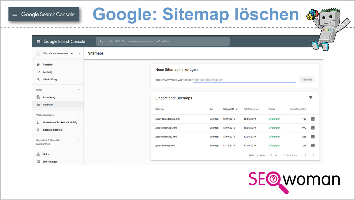 Google Search Console Sitemap Loschen SEO To Go