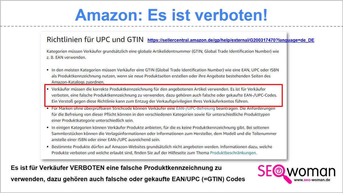 Amazon - Was verboten ist...