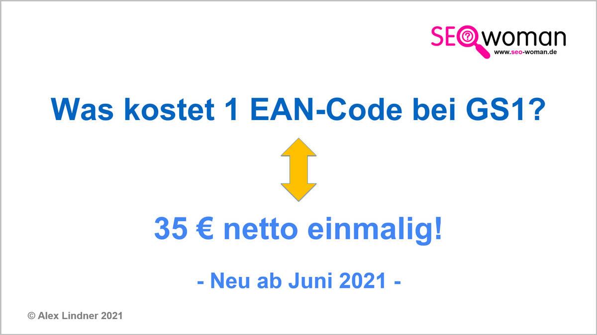 Was kostet 1 EAN-Code bei GS1?